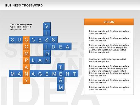 Business Crossword, Slide 5, 00616, Business Models — PoweredTemplate.com