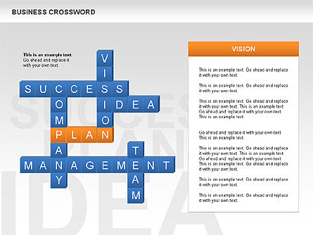 Business Crossword, Slide 6, 00616, Business Models — PoweredTemplate.com
