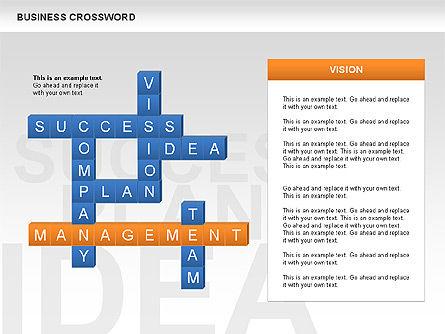 Business Crossword, Slide 7, 00616, Business Models — PoweredTemplate.com