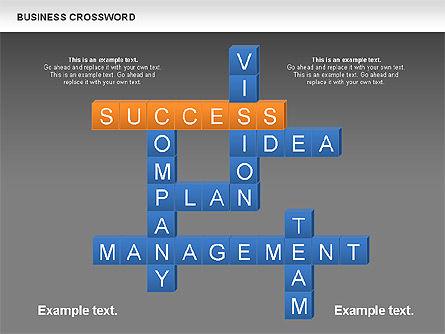 Business Crossword, Slide 9, 00616, Business Models — PoweredTemplate.com