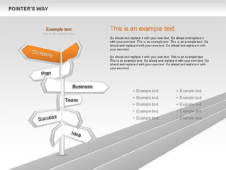 Road Pointers, Slide 2, 00617, Stage Diagrams — PoweredTemplate.com
