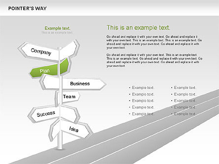 Road Pointers, Slide 3, 00617, Stage Diagrams — PoweredTemplate.com