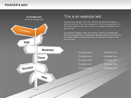 Road Pointers, Slide 8, 00617, Stage Diagrams — PoweredTemplate.com