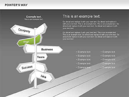 Road Pointers, Slide 9, 00617, Stage Diagrams — PoweredTemplate.com