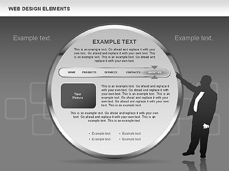 Web Design Shapes and Diagrams, Slide 14, 00618, Process Diagrams — PoweredTemplate.com
