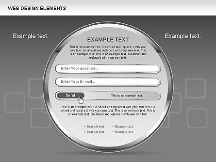Web Design Shapes and Diagrams, Slide 15, 00618, Process Diagrams — PoweredTemplate.com