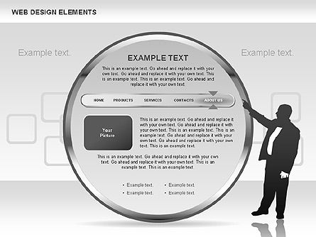 Web Design Shapes and Diagrams, Slide 5, 00618, Process Diagrams — PoweredTemplate.com