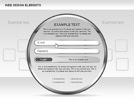 Web Design Shapes and Diagrams, Slide 6, 00618, Process Diagrams — PoweredTemplate.com