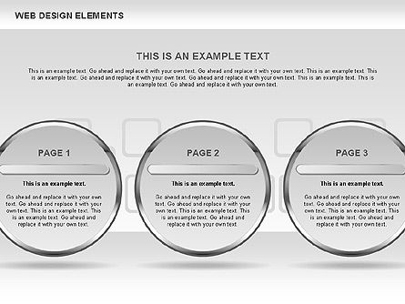 Web Design Shapes and Diagrams, Slide 7, 00618, Process Diagrams — PoweredTemplate.com