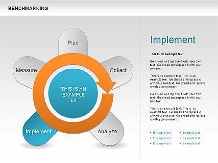 Benchmarking Diagram, Slide 10, 00623, Stage Diagrams — PoweredTemplate.com