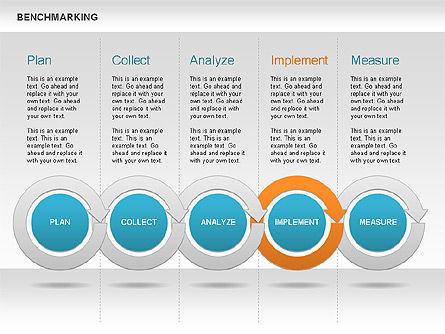 Benchmarking Diagram, Slide 11, 00623, Stage Diagrams — PoweredTemplate.com