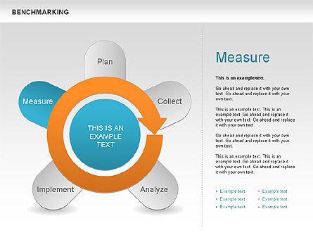 Benchmarking Diagram, Slide 12, 00623, Stage Diagrams — PoweredTemplate.com