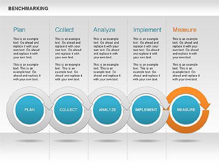 Benchmarking Diagram, Slide 13, 00623, Stage Diagrams — PoweredTemplate.com