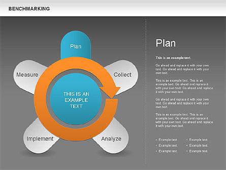Benchmarking Diagram, Slide 14, 00623, Stage Diagrams — PoweredTemplate.com