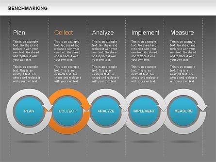 Benchmarking Diagram, Slide 15, 00623, Stage Diagrams — PoweredTemplate.com
