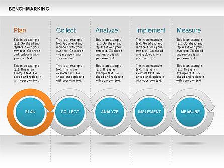 Benchmarking Diagram, Slide 5, 00623, Stage Diagrams — PoweredTemplate.com