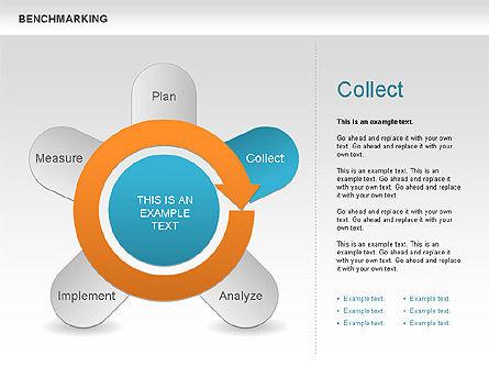 Benchmarking Diagram, Slide 6, 00623, Stage Diagrams — PoweredTemplate.com