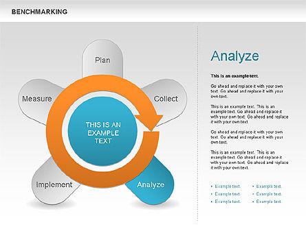 Benchmarking Diagram, Slide 8, 00623, Stage Diagrams — PoweredTemplate.com