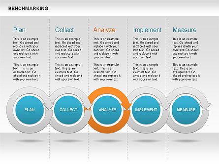 Benchmarking Diagram, Slide 9, 00623, Stage Diagrams — PoweredTemplate.com