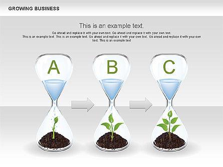 Growing Business Diagram, Slide 10, 00624, Business Models — PoweredTemplate.com
