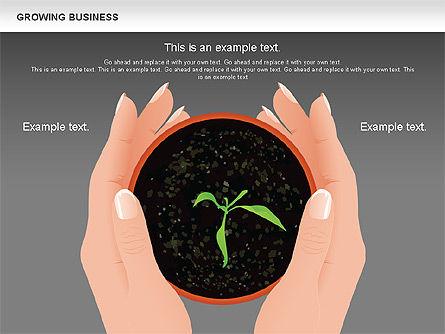 Growing Business Diagram, Slide 11, 00624, Business Models — PoweredTemplate.com