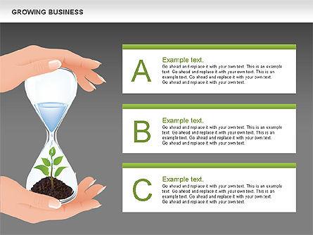 Growing Business Diagram, Slide 13, 00624, Business Models — PoweredTemplate.com