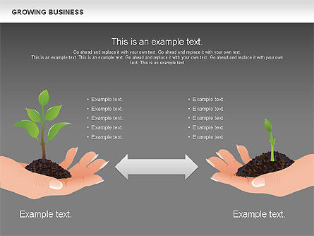 Growing Business Diagram, Slide 14, 00624, Business Models — PoweredTemplate.com
