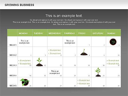 Growing Business Diagram, Slide 15, 00624, Business Models — PoweredTemplate.com