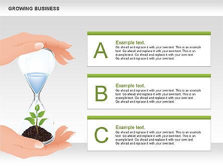 Growing Business Diagram, Slide 3, 00624, Business Models — PoweredTemplate.com