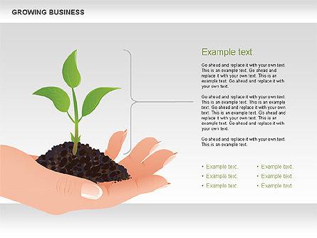 Growing Business Diagram, Slide 5, 00624, Business Models — PoweredTemplate.com