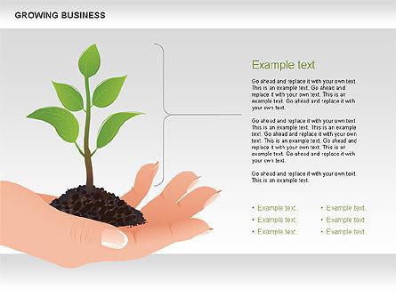 Growing Business Diagram, Slide 6, 00624, Business Models — PoweredTemplate.com