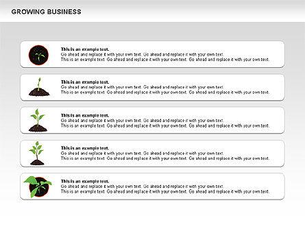 Growing Business Diagram, Slide 7, 00624, Business Models — PoweredTemplate.com