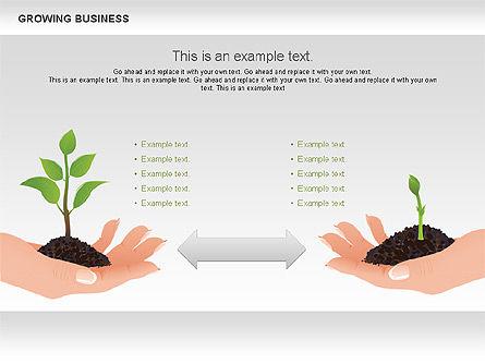 Growing Business Diagram, Slide 8, 00624, Business Models — PoweredTemplate.com