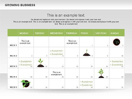 Growing Business Diagram, Slide 9, 00624, Business Models — PoweredTemplate.com