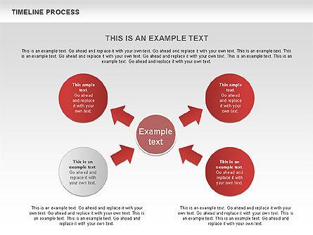 Timeline Process with Circles Diagram, Slide 10, 00629, Timelines & Calendars — PoweredTemplate.com