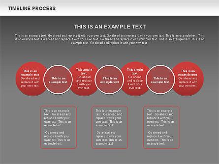 Timeline Process with Circles Diagram, Slide 11, 00629, Timelines & Calendars — PoweredTemplate.com