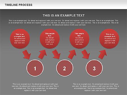 Timeline Process with Circles Diagram, Slide 12, 00629, Timelines & Calendars — PoweredTemplate.com
