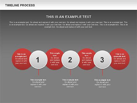Timeline Process with Circles Diagram, Slide 13, 00629, Timelines & Calendars — PoweredTemplate.com