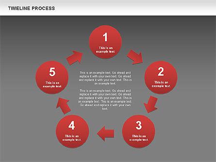 Timeline Process with Circles Diagram, Slide 14, 00629, Timelines & Calendars — PoweredTemplate.com