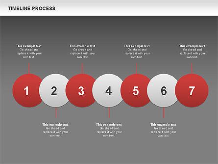 Timeline Process with Circles Diagram, Slide 15, 00629, Timelines & Calendars — PoweredTemplate.com