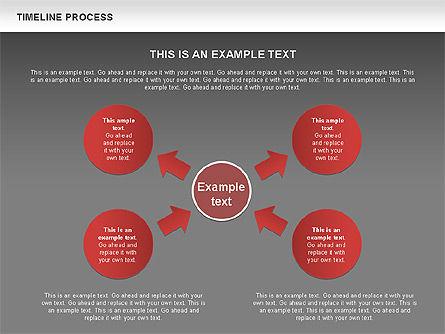 Timeline Process with Circles Diagram, Slide 16, 00629, Timelines & Calendars — PoweredTemplate.com