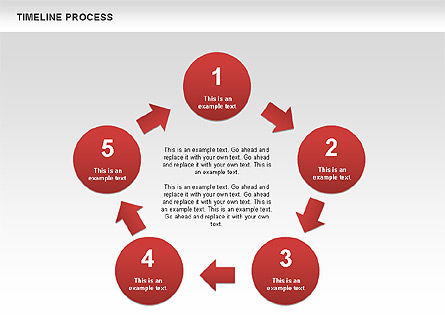 Timeline Process with Circles Diagram, Slide 4, 00629, Timelines & Calendars — PoweredTemplate.com