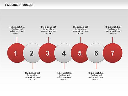 Timeline Process with Circles Diagram, Slide 5, 00629, Timelines & Calendars — PoweredTemplate.com