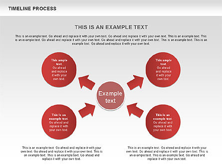 Timeline Process with Circles Diagram, Slide 6, 00629, Timelines & Calendars — PoweredTemplate.com
