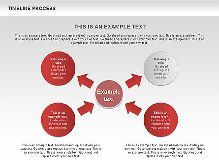 Timeline Process with Circles Diagram, Slide 8, 00629, Timelines & Calendars — PoweredTemplate.com