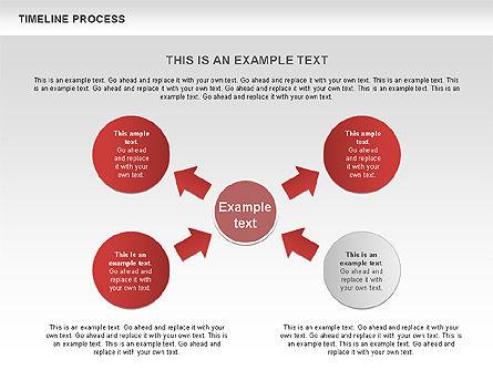 Timeline Process with Circles Diagram, Slide 9, 00629, Timelines & Calendars — PoweredTemplate.com