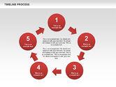 Timeline Process with Circles Diagram#4