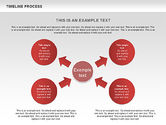 Timeline Process with Circles Diagram#6