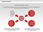 Timeline Process with Circles Diagram#7
