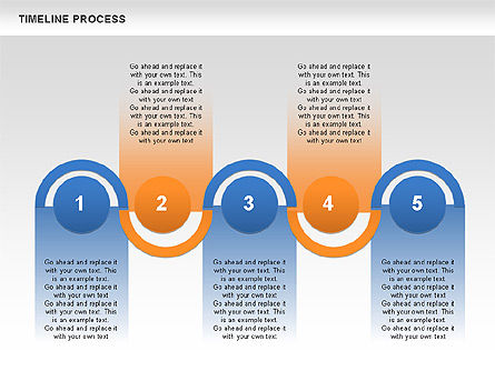Timeline Process, Slide 2, 00630, Process Diagrams — PoweredTemplate.com